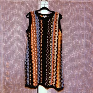 Missoni Zig-Zag Sleeveless Crewneck Sweater Dress